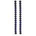 Blue Splatter Glass Bead Strands - 12mm