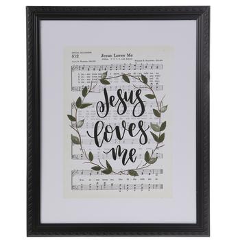 Jesus Loves Me Sheet Music Framed Wall Decor