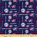 NHL Columbus Blue Jackets Allover Cotton Fabric