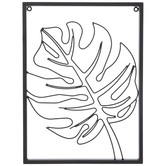 Black Monstera Leaf Metal Wall Decor