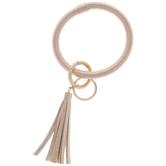 Champagne Gold Tassel Bracelet Keychain