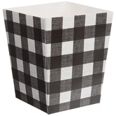 Black & White Buffalo Check Favor Boxes