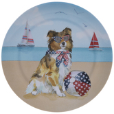 Border Collie 4th Of July Plate