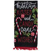 Mistletoe Kisses & Candy Cane Wishes Kitchen Towel