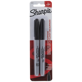 Black Fine Point Sharpie Markers - 2 Piece Set