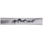 Black & White Horses Canvas Wall Decor