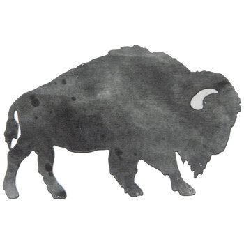 Bison Painted Wood Shape