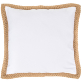 Canvas Jute Trim Pillow Cover