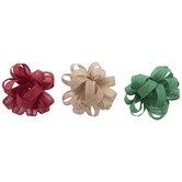 Red, Green & Natural Burlap Bows