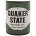 Quaker State Half Oil Can Metal Wall Decor