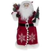 Snowflake Suit Santa Claus Tree Topper