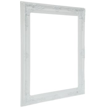 """Cream White Ornate Open Wood Frame - 16"""" x 20"""""""