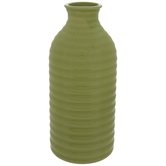 Lime Ribbed Vase