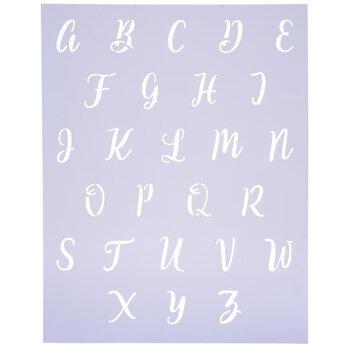 Script Uppercase Letter Alphabet Stencil