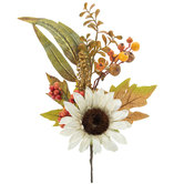 White Sunflower & Orange Berry Pick
