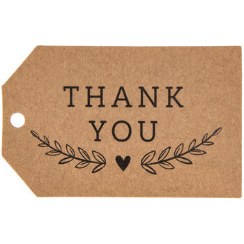 Kraft Thank You Favor Tags