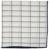 Trim Windowpane Cloth Napkin