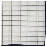Navy Trim Windowpane Cloth Napkin