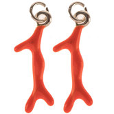 Red Coral Charms