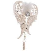 Pink Glitter Angel Wings Ornament