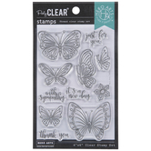 New Day Butterfly Clear Stamps