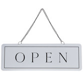 Open Closed Metal Wall Decor