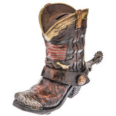 Cowboy Boot Coin Bank