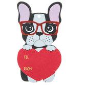 Boston Terrier Valentine Tags