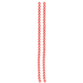 Coral Czech Glass Pearl Bead Strands - 6mm