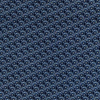 Blue bandana quilting fabric
