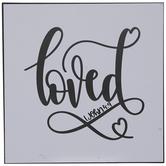 Loved 1 John 4:9 Wood Wall Decor