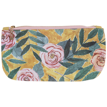 Yellow & Pink Floral Pouch