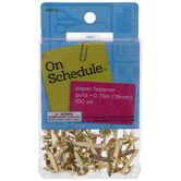 Gold Paper Fasteners - 19mm