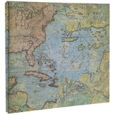 """Uncharted Map Post Bound Scrapbook Album - 12"""" x 12"""""""
