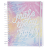 Make Today Happy Rainbow Spiral Notebook
