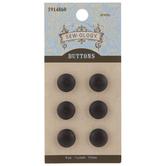 Black Wood Shank Buttons