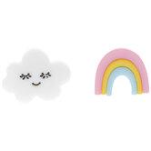 Rainbow & Cloud Shank Buttons