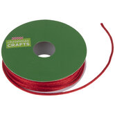 """Red Satin Rattail Cord - 1/16"""""""
