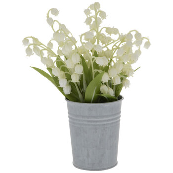 Lily Of The Valley In Metal Pot