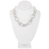 """Round Hammered Chain Necklace - 16"""""""