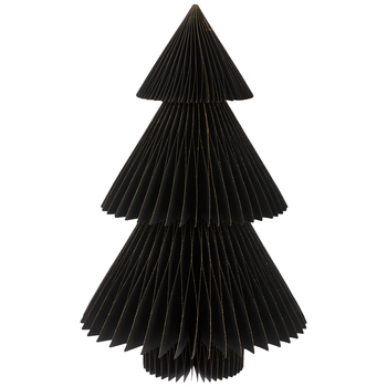 Black Glitter Trim Honeycomb Tree