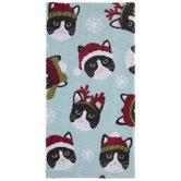 Cats & Snowflakes Kitchen Towel