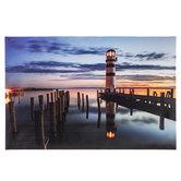 Lighthouse Lighted Canvas Wall Decor
