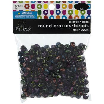 Round Cross Beads