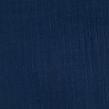 Navy Cozy Gauze Fabric