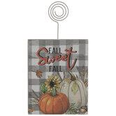 Fall Sweet Fall Pumpkins Wood Photo Clip
