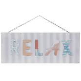 Relax Corrugated Metal Wall Decor