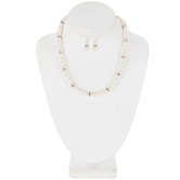 Ivory Pearl Necklace & Earring Set