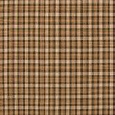 Brown Homespun Plaid Cotton Calico Fabric