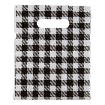 Black Buffalo Check Zipper Treat Bags